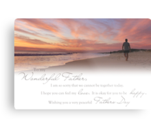 Fathers Day (Card From Child To Father) Metal Print