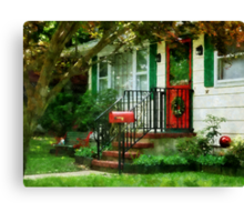 Home That Always Celebrates Christmas Canvas Print