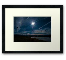 I think I can see the Hot Air Balloons! Framed Print