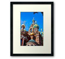 Russian traditional church Framed Print