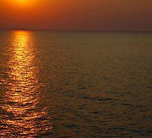 Beautifull sunset in sea by Eduard Isakov
