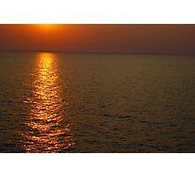 Beautifull sunset in sea Photographic Print