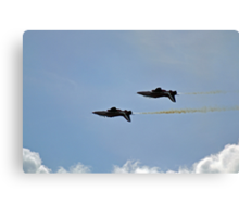 Red Arrows - Upside Down Flypast Canvas Print