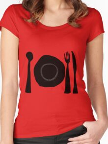 Eat Eat Eat Women's Fitted Scoop T-Shirt