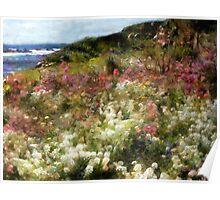 Summer Garden on La Cote d'Azur Poster