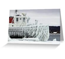 Ice Freighter Greeting Card