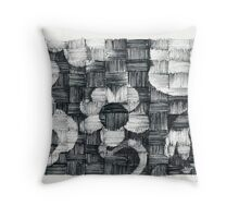 Sunflowers - Ink Weaving - Experimental technique :) Throw Pillow