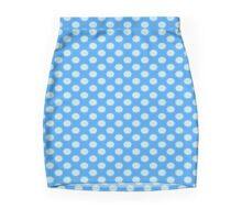 Blue On Blue Polka Dots Mini Skirt