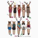 Fashion-na-nimal Darlings Paper dolls by D.U.R.A .
