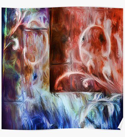 Baltazar abstraction Poster