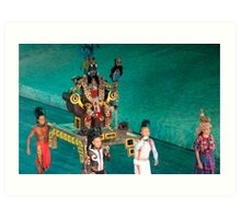 mayan ceremony Art Print