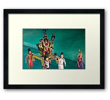 mayan ceremony Framed Print