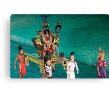 mayan ceremony Canvas Print