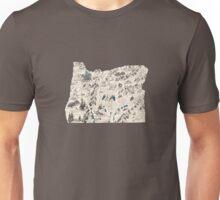 Oregon Vintage Picture Map Unisex T-Shirt