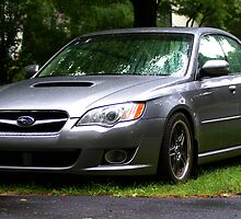 Subaru Legacy GT in the Rain by kalitarios