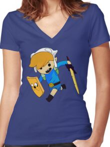 Toon Finn Women's Fitted V-Neck T-Shirt