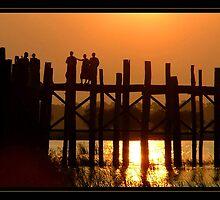 Monks on the Bridge by SerenaB