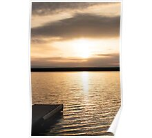 Sunrise On A Lake! Poster