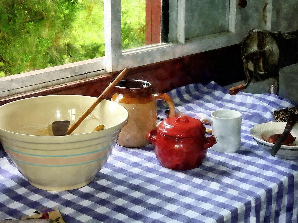 Red Sugar Bowl by Susan Savad