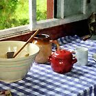 Red Sugar Bowl by Susan Savad