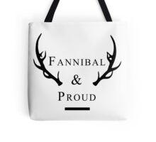 'Fannibal & Proud' (Black Font) Tote Bag
