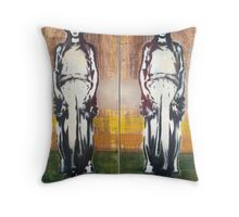 Caryatids Diptych #1 Throw Pillow