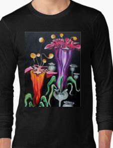 Poppies Fantasy..acrylic on canvas Long Sleeve T-Shirt