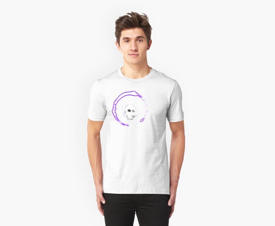 Flip Side Logo - TShirt - Violet by kalitarios