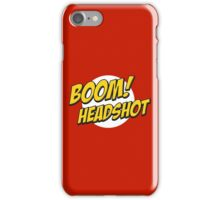 BOOM, Headshot iPhone Case/Skin