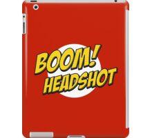 BOOM, Headshot iPad Case/Skin