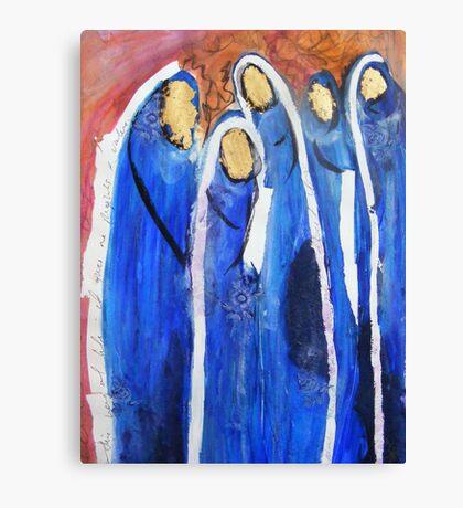 Blue muslim women burqa, Community Canvas Print