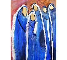 Blue muslim women burqa, Community Photographic Print