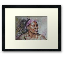 Serena Williams - Portrait 6 Framed Print