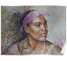 Serena Williams - Portrait 6 Poster