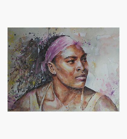 Serena Williams - Portrait 6 Photographic Print
