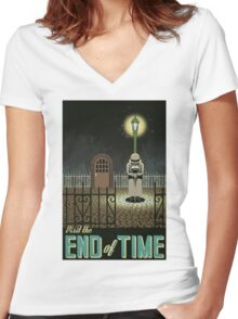 Chrono Trigger End of Time Women's Fitted V-Neck T-Shirt