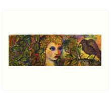 She Talks To Ravens Art Print