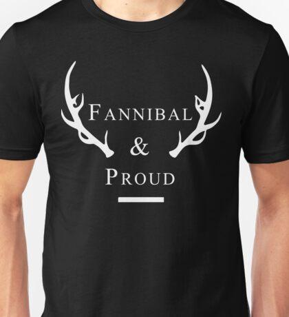 'Fannibal & Proud' (Black Background/White Font) Unisex T-Shirt