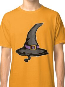 Cute Witches Hat Cat Halloween Classic T-Shirt