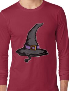 Cute Witches Hat Cat Halloween Long Sleeve T-Shirt