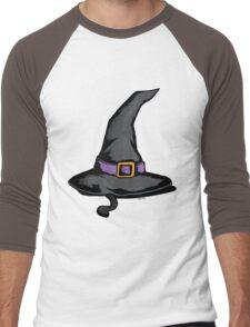 Cute Witches Hat Cat Halloween Men's Baseball ¾ T-Shirt