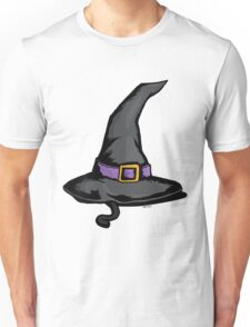 Cute Witches Hat Cat Halloween Unisex T-Shirt