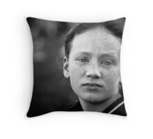 Another day, another eldest sibling worn down by her numerous brothers and sisters and wishing (if only for a day or two) she were an only child Throw Pillow