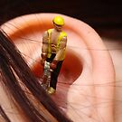 Making a ear hole lol by thermosoflask