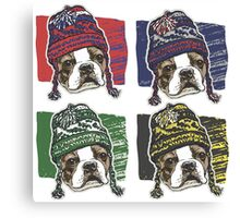 Boston Terrier Boston Sports Beanies Canvas Print