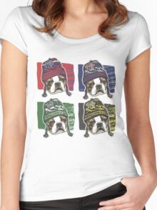 Boston Terrier Boston Sports Beanies Women's Fitted Scoop T-Shirt