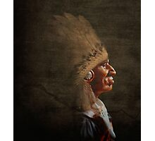 Old chief profile, Photographic Print
