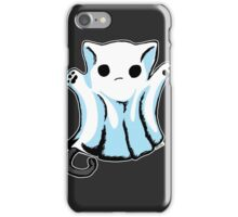 Cute Boo Ghost Cat Halloween iPhone Case/Skin