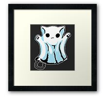 Cute Boo Ghost Cat Halloween Framed Print