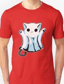 Cute Boo Ghost Cat Halloween T-Shirt